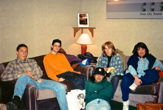 Jared / Adam / Helder / Tom / Alexis.  Cove City Sound, 1995.